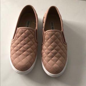 Rose Gold Steve Madden Slip On Sneakers